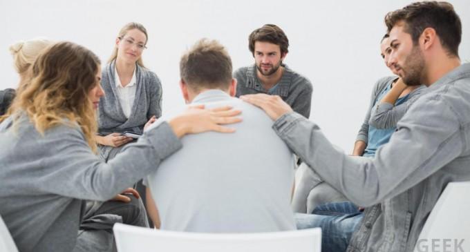 osoby na terapii grupowej